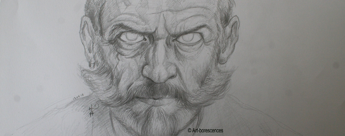 art-borescences dessiner un visage